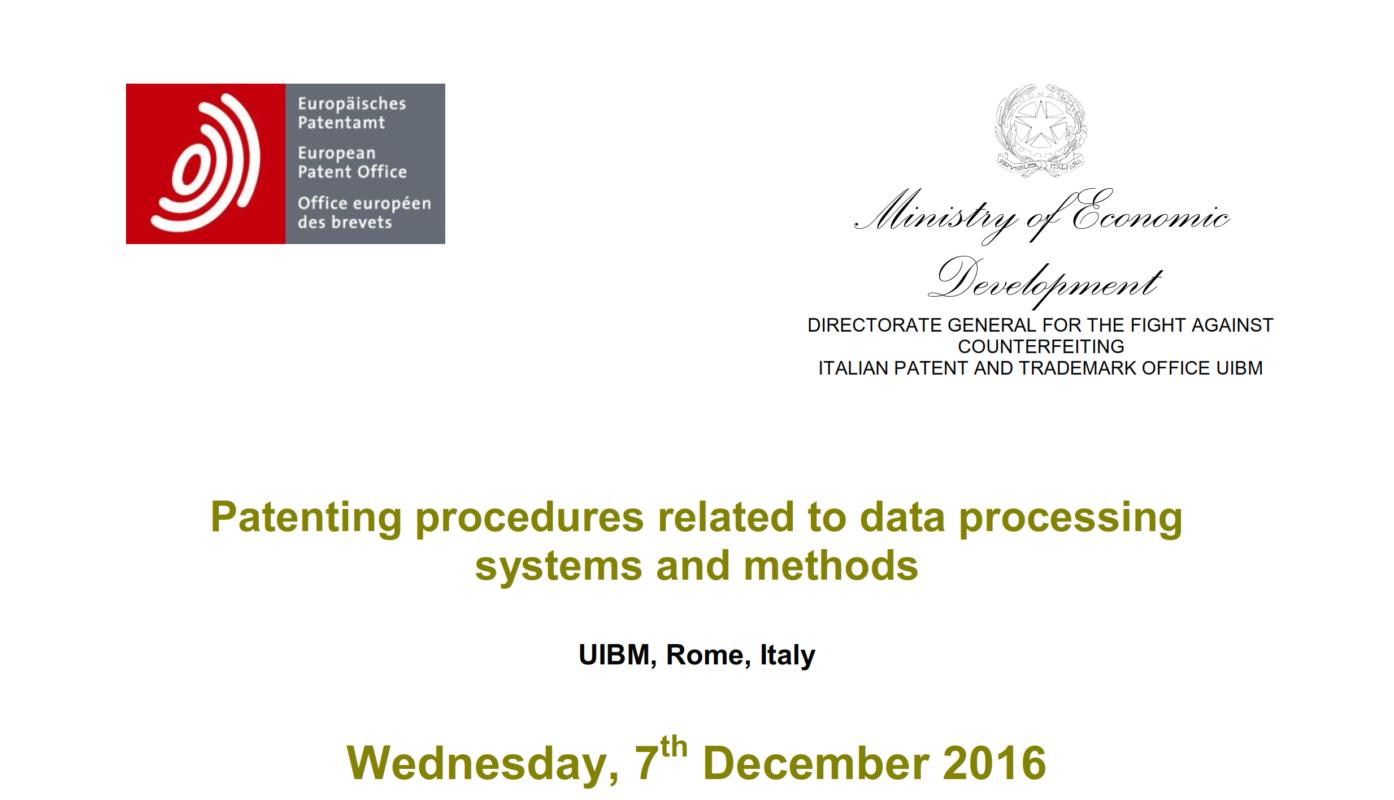 Tavola rotonda sulle procedure di brevettazione
